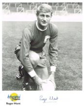Roger Hunt Autograph Signed Photo